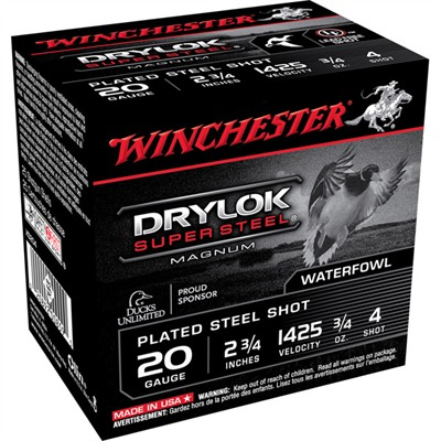 "Drylok Ammo 20 Gauge 2-3/4"" 3/4 Oz #4 Steel Shot - 20 Gauge 2-3/4"" 3/4 Oz #4 Steel Shot 25"