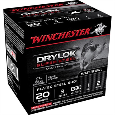 "Drylok Ammo 20 Gauge 3"" 1 Oz #2 Steel Shot - 20 Gauge 3"" 1 Oz #2 Steel Shot 25/Box"
