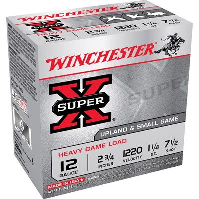 Winchester Super-X Heavy Game Load Ammo 12 Gauge 2-3/4