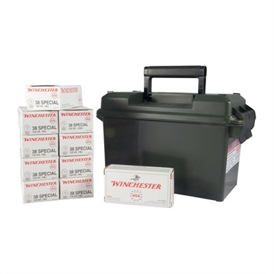 Winchester Usa White Box Ammo 38 Special 130gr Fmj Ammo Can