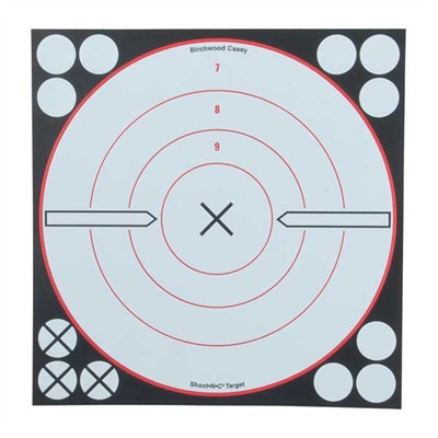 "Shoot-N-C White/Black Targets - Shoot-N-C 8"" Bulls-Eye Target (6 Pack)"