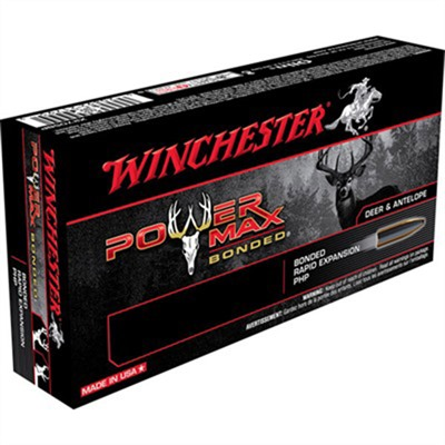 Winchester Power Max Bonded Ammo 270 Winchester 150gr Protected Hp 270 Winchester 150gr Protected Hollow Point 20/Box