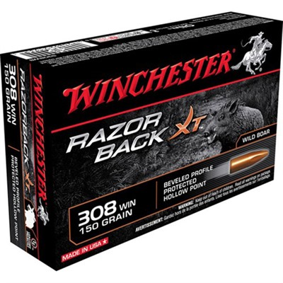 Winchester Razorback Xt Ammo 308 Winchester 150gr Protected Hp