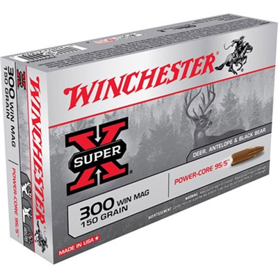 Winchester Super X Power Core 95/5 Rifle Ammunition Winchester Super X Power Core 95/5 300 Win Mag 150gr Php Discount