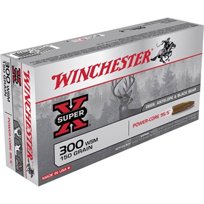 Winchester Super X Power Core Ammo 300 Wsm 150gr Protected Hp 300 Wsm 150gr Protected Hollow Point 20/Box
