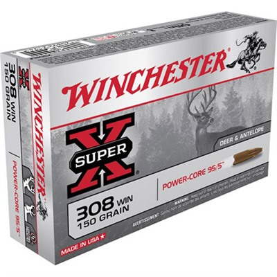 Super X Power Core 95/5 Rifle Ammunition - Winchester Super X Power Core 95/5 .308 Win 150gr Php