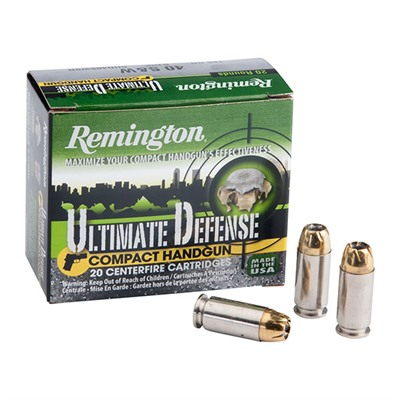 Ultimate Defense Compact Handgun Ammo - Ultimate Defense Compact .40 S&W 180gr Bjhp 20/Box