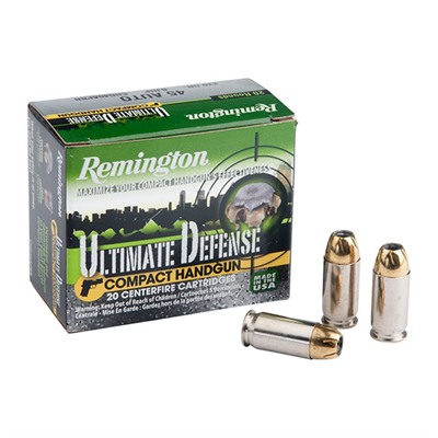 Remington Ultimate Defense Ammo 45 Acp 230gr Bjhp 45 Auto 230gr Brass Jacketed Hollow Point 20/Box