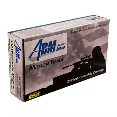 Abm Ammo 105-000-410 Mission Ready Tactical Ammo 300 Win Mag 185gr Berger Otm