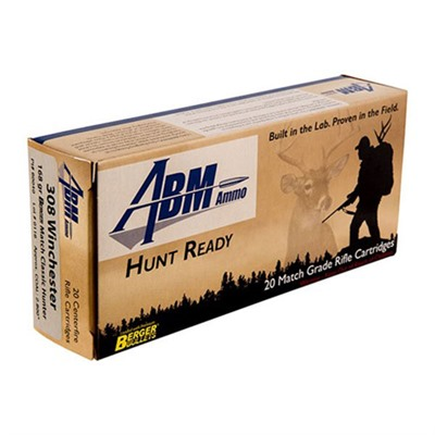 Abm Ammo Hunt Ready Ammo 308 Winchester 168gr Berger Classic Hunter