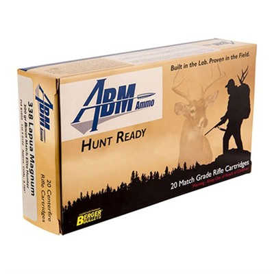 Abm Ammo Hunt Ready Ammo 338 Lapua Magnum 300gr Berger Elite Hunter