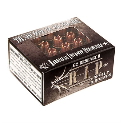 R.I.P. Ammo 380 Auto 62gr Hp - 380 Auto 62gr Hollow Point 20/Box