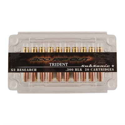 Rip Out Ammo 300 Blackout Subsonic Trident 200gr Solid Copper Hp - 300 Aac Blackout Trident 200gr So