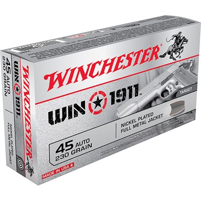 Win 1911 Ammo 45 Acp 230gr Fmj - 45 Acp 230gr Full Metal Jacket 50/Box