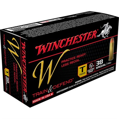 Winchester Train & Defend Ammo 38 Special 130gr Fmj