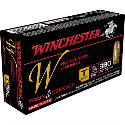 Winchester Train & Defend Ammo 380 Auto 95gr Fmj