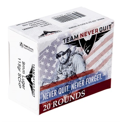 Team Never Quit Self Defense Ammo 9mm Luger 115gr Schp