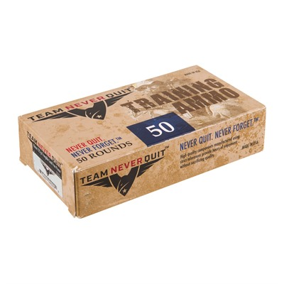 Team Never Quit Frangible Lead Free Training Ammo 10mm Auto 125gr Fmj-Fn