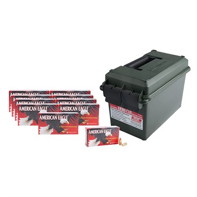 American Eagle Ammo 9mm Luger 115gr Fmj Ammo Can - 9mm Luger 115gr Full Metal Jacket 500/Ammo Can