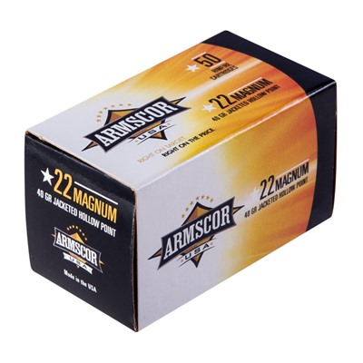 Precision 22 Magnum (Wmr) 40gr Jacketed Hollow Point Ammo - 22 Magnum (Wmr) 40gr Jhp 50/Box