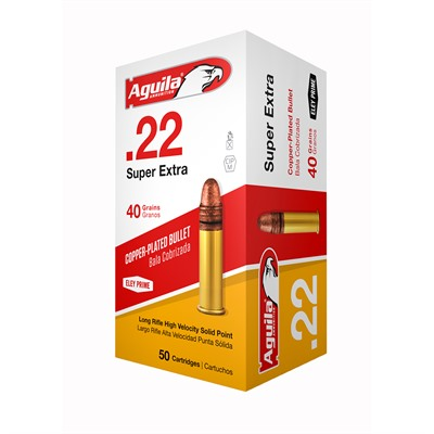 Superextra High Velocity Ammo 22 Long Rifle 40gr Cprn - 22 Long Rifle 40gr Copper Plated Round Nose