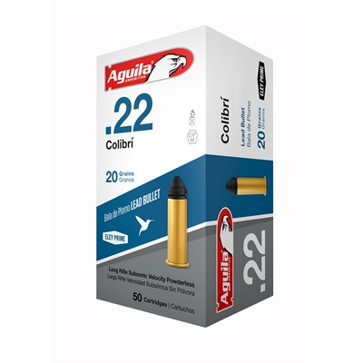 Aguila Colibri Ammo 22 Long Rifle 20gr Lead Colibri - 22 Long Rifle 20gr Lead Colibri 50/Box