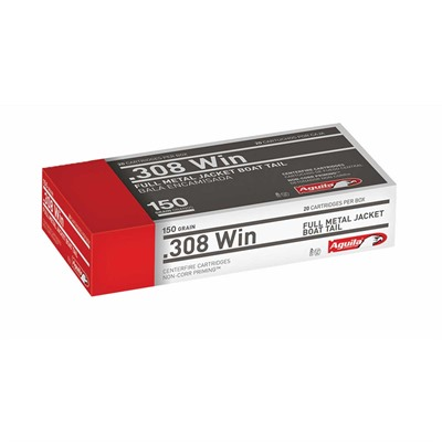 308 Winchester 150gr Fmjbt Rifle Ammo - 308 Winchester 150gr Full Metal Jacket Boat Tail 20/Box