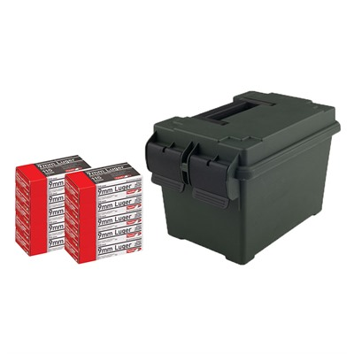 Pistol Ammo Cans - 9mm Luger 115gr Full Metal Jacket 500/Can