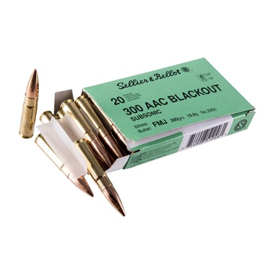 300 Aac Blackout 200gr Subsonic Fmj Ammo - 300 Aac Blackout 200gr Subsonic Fmj 1,000/Case
