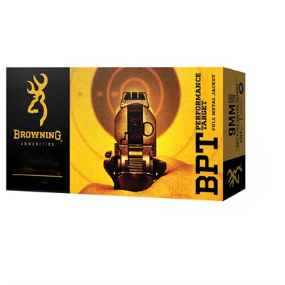 Browning Bpt Performance Target 40 S&W 180gr Full Metal Jacket