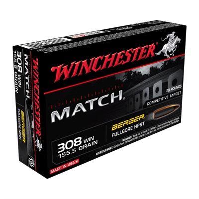 Winchester Match 308 Winchester Rifle Ammo - 308 Winchester 155.5gr Fullbore Target 200/Case thumbnail