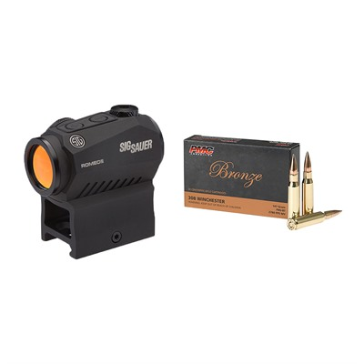 Brownells Bronze .308 Winchester Ammo With Romeo5 Compact Red Dot Sight
