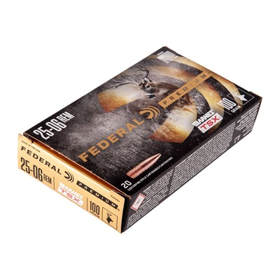 Federal Premium 25-06 Remington Ammo - 25-06 Remington 100gr Barnes Tsx 20/Box