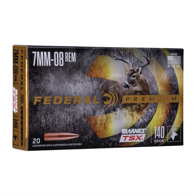 Federal Premium 7mm-08 Remington Ammo - 7mm-08 Remington 140gr Barnes Tsx 20/Box