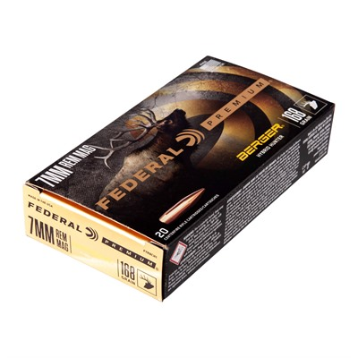 Federal Premium Hybrid Hunter 7mm Remington Magnum Ammo - 7mm Remington Magnum 168gr Berger Hybrid Hunter 20/Box