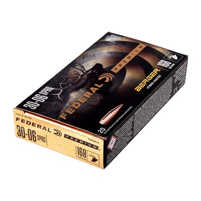 Federal Premium Hybrid Hunter 30-06 Springfield Ammo - 30-06 Springfield 168gr Berger Hybrid Hunter 20/Box