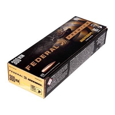 Federal Premium Hybrid Hunter 300 Winchester Short Magnum (Wsm) Ammo - 300 Wsm 185gr Berger Hybrid Hunter 20/Box