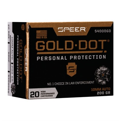 SPEER - GOLD DOT PERSONAL PROTECTION 10MM AUTO AMMO