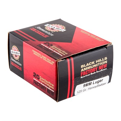 9mm Luger 125gr Subsonic Honeybadger Ammo - 9mm Luger 125gr Subsonic Honeybadger 20/Box