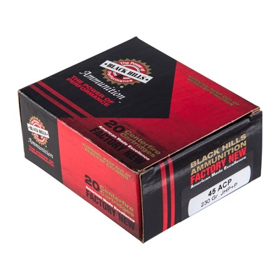 Black Hills Ammunition 45 Acp +p 230gr Jacketed Hollow Point Ammo - 45 Auto +p 230gr Jhp 20/Box