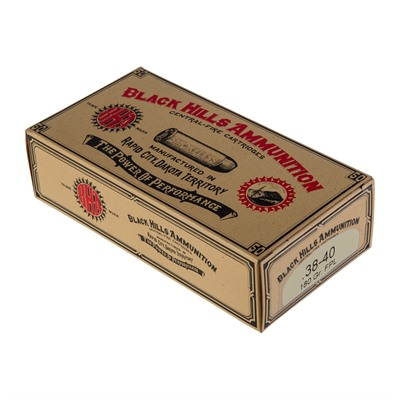 Black Hills Ammunition Cowboy Action Ammo 38-40 Winchester 180gr Lead Flat Point - 38-40 Winchester 180gr Fpl 50/Box