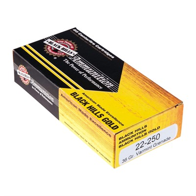 Black Hills Gold Amm 22-250 Remington 36gr Varmint Grenade - 22-250 Remington 36gr Varmint Grenade 20/Box