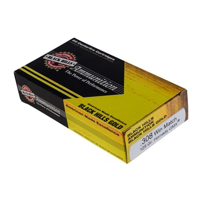 Black Hills Gold Ammo 308 Winchester 125gr Gmx - 308 Winchester 125gr Gmx 20/Box