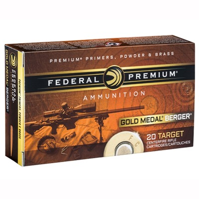 Federal Gold Medal Berger Ammo 6.5 Creedmoor 130gr Berger Hybrid Otm - 6.5mm Creedmoor 130gr Hybrid Otm 200/Case