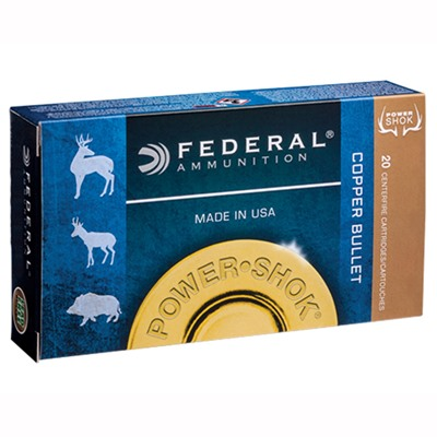 Federal Power-Shok Copper Ammo 300 Wsm 180gr Copper Hollow Point - 300 Wsm 180gr Copper Hp 20/Box