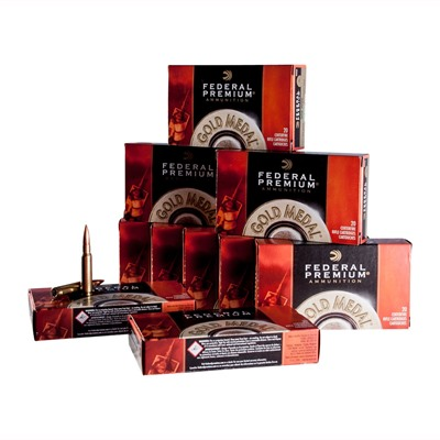 Federal Gold Medal Match Ammo 30 06 Springfield 168gr Hpbt 30 06 Springfield 168gr Matchking Hpbt 200/Case