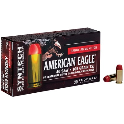 American Eagle Syntech Ammo 40 S&W 165gr Tsj - 40 S&W 165gr Total Synthetic Jacket 50/Box