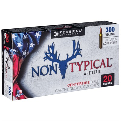 Federal Non-Typical Whitetail Ammo 300 Winchester Mag 180gr Soft Point - 300 Winchester Magnum 180gr Soft Point 20/Box