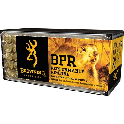 Browning Bpr 22 Winchester Magnum 40gr Jhp - 22 Winchester Magnum 40gr Jacketed Hollow Point 50/Box