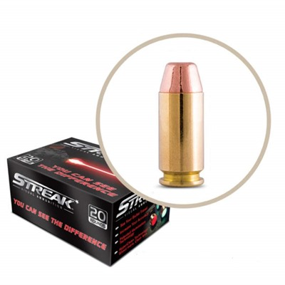 Ammo Incorporated Streak Cold Tracer 40 S&W Ammo 40 S&W 180gr Tmc Red Tracer 20/Box USA & Canada